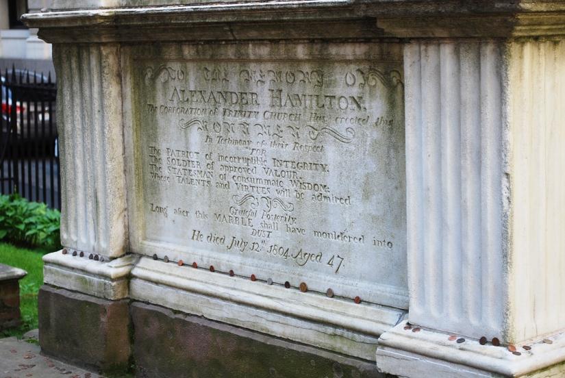 alexander hamilton graveyard