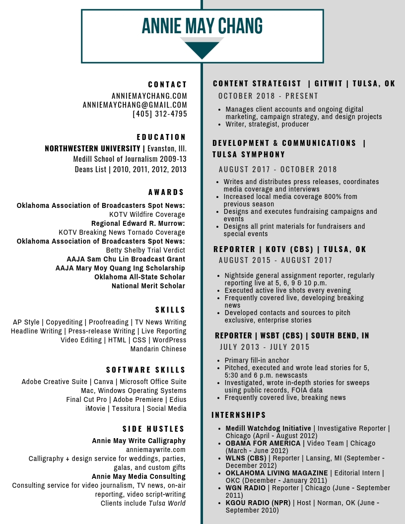 ANNIE CHANG RESUME 2018